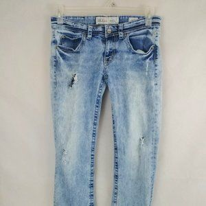 BKE Stella Distressed Ripped Embroidered Jeans